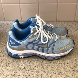 Nike form phylon tri-d blue white running shoe 6.5